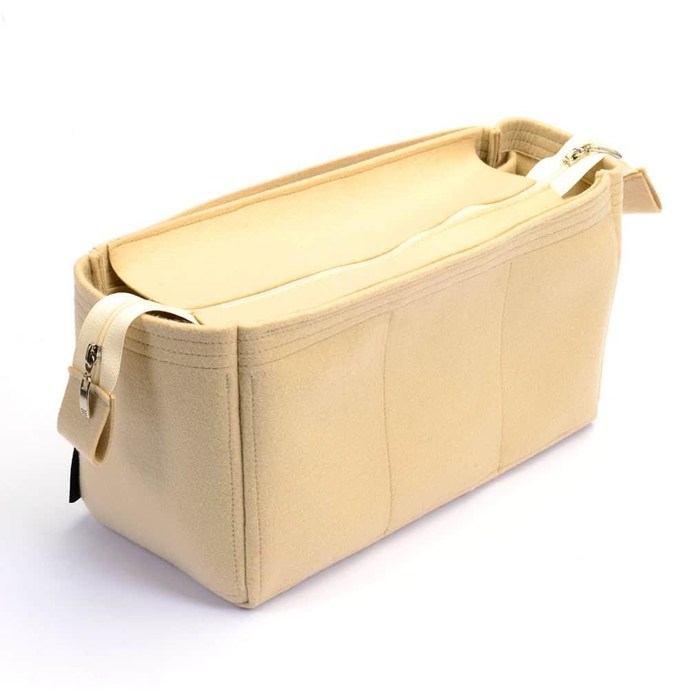 Felt Handbag Organizer with Detachable Zipper Top - Size: 36 / 19 / 16 cm