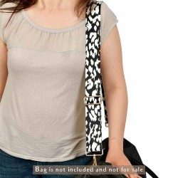 Replacement Guitar Style Strap In Dalmatian Pattern For Bags And Purses