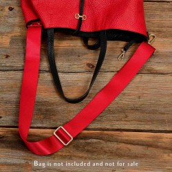 Replacement Guitar Style Strap In Cherry Red For Bags And Purses