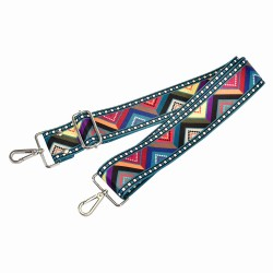 Replacement Guitar Style Strap In Geo-Style For Bags And Purses