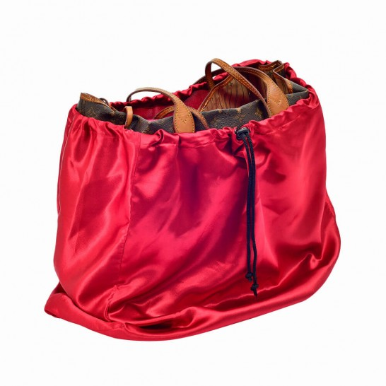 Satin Dust Cover in Cherry Red for Handbag and Totebags (More Colors)