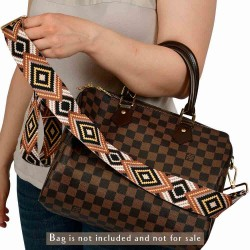 Replacement Guitar Style Strap In Seamless Pattern For Bags And Purses