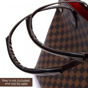 Handmade Leather Handle Protection Cover Wraps For Neverfull PM/MM/GM in Dark Brown