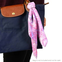 Peacock in Pink Handmarbled Bag Scarf Key Fob