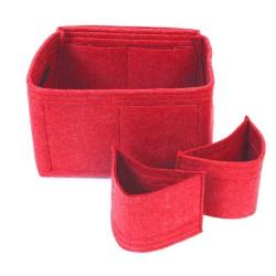 Felt Handbag Organizer with Detachable Style - Size: 33 / 16 / 16 cm