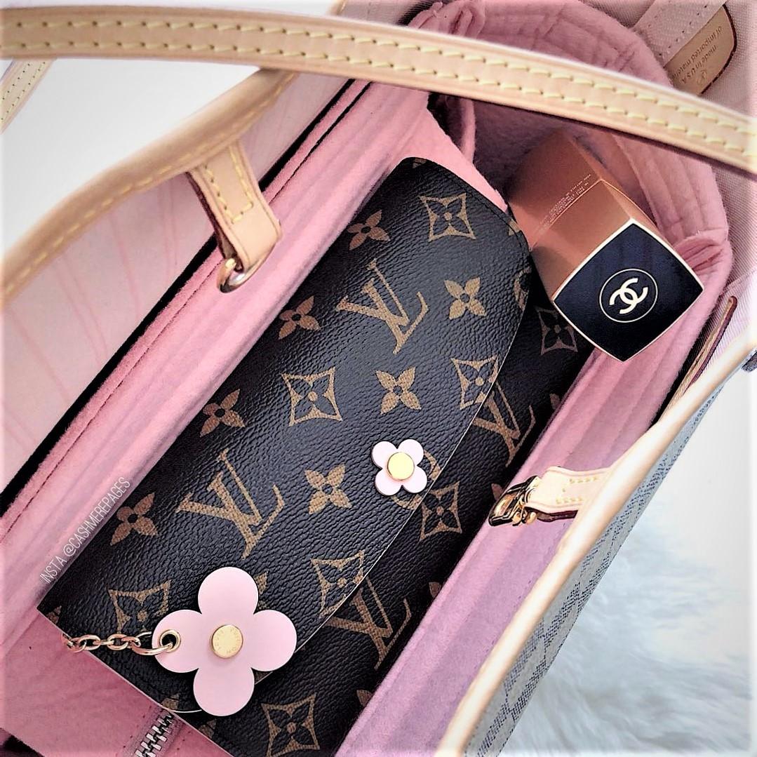 Zipper-top style felt bag organizer for neverfull mm