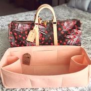 Regular style felt bag organizer in peach color for Keepall 45