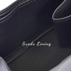 Celine Mini Luggage Bag Vegan Leather Handbag Organizer in Black Color