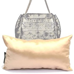 Satin Pillow Luxury Bag Shaper for Lax Large Camera Bag (Champagne) - More colors available