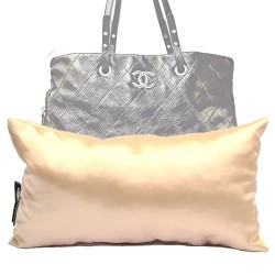 Satin Pillow Luxury Bag Shaper For On The Road Tote (Champagne) - More colors available