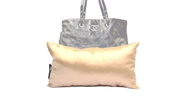 Satin Pillow Luxury Bag Shaper For On The Road Tote Champagne More Colors Available