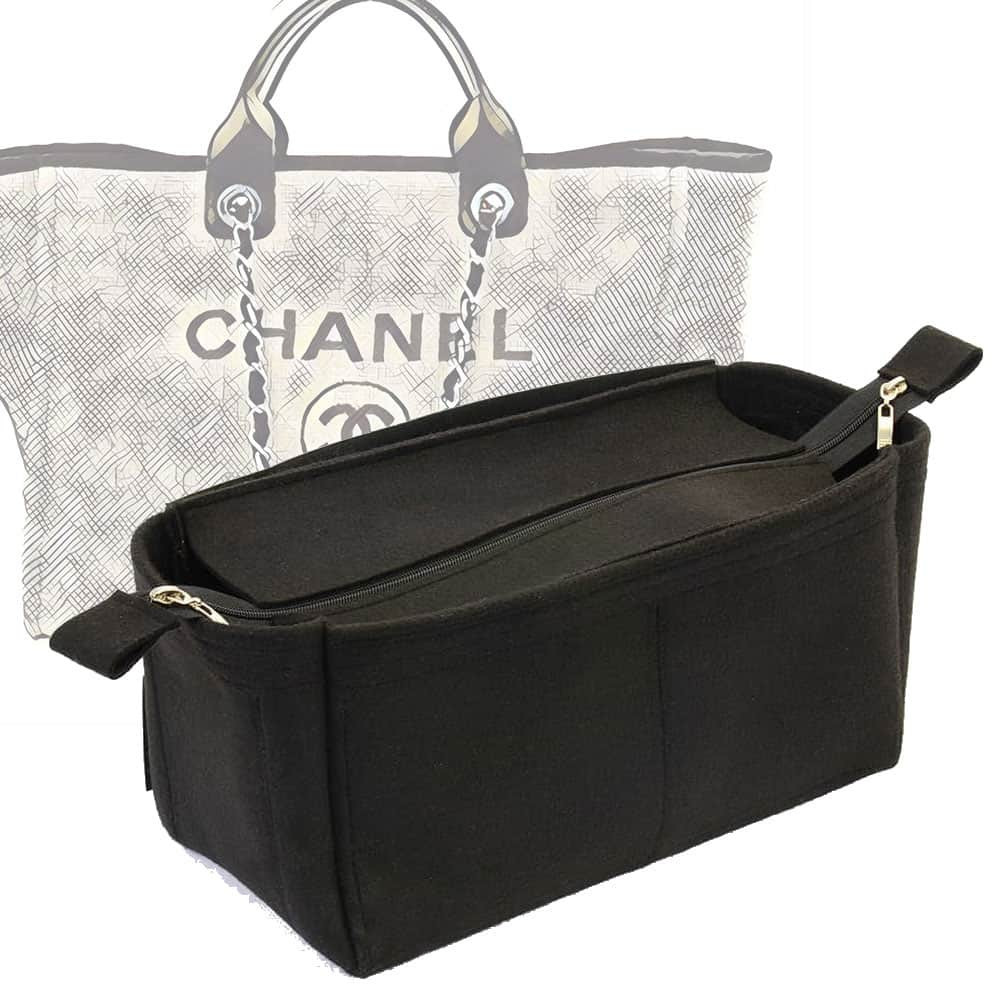 29bf7b5e23a8 Bag and Purse Organizer with Zipper Top Style for Chanel Deauville Canvas  Large (More colors