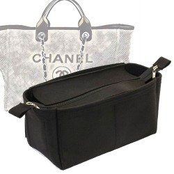 Bag and Purse Organizer with Zipper Top Style for Deauville Canvas Large (More colors available)