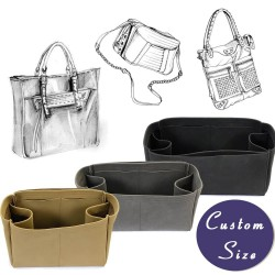 Custom Size Regular Nubuck Leather Handbag Organizer for Handbags and Tote Bags