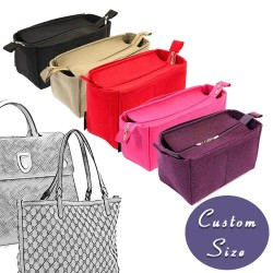 Custom Size Bag and Purse Organizer with Zipper-Top Style for Designer Bags