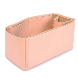 Cuy. Classic Leather Zipper Tote Deluxe Leather Bag Organizer in Blush Color