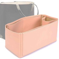 Cuy. Classic Structured Leather Tote Deluxe Leather Bag Organizer in Blush Color