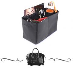 Givenchy Medium Antigona Deluxe Leather Handbag Organizer in Black Color
