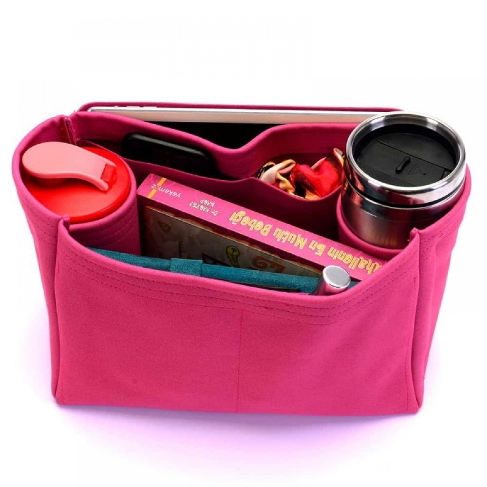 St. Louis PM and Anjou PM Suedette Regular Style Leather Handbag Organizer (Black) (More Colors Available)