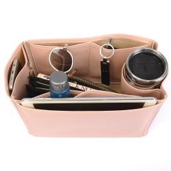 Birkin 40 Vegan Leather Handbag Organizer in Blush Pink Color