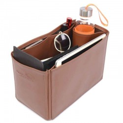 Garden Party 30 Vegan Leather Handbag Organizer in Brown Color