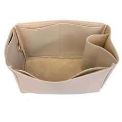 Birkin 40 Vegan Leather Handbag Organizer in Dark Beige Color