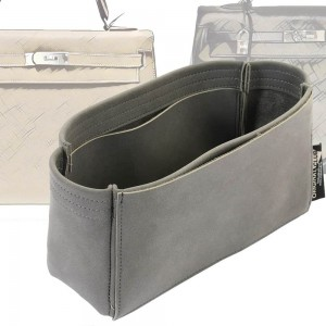 Kelly 32/35 Basic Style Nubuck Leather Handbag Organizer (More colors available)