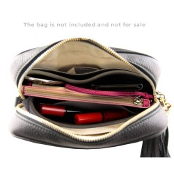 Soho Disco Suedette Basic Style Leather Handbag Organizer (Dark Gray) (More Colors Available)
