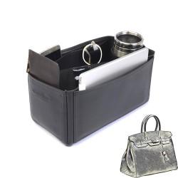 Birkin 35 Vegan Leather Handbag Organizer in Black Color