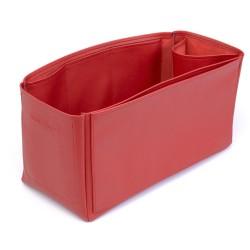Birkin 40 VeganLeather Handbag Organizer in Cherry Red Color