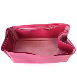 Birkin 40 Vegan Leather Handbag Organizer in Fuchsia Color