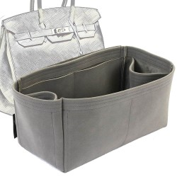 Birkin 35 Regular Style Nubuck Leather Handbag Organizer (More colors available)