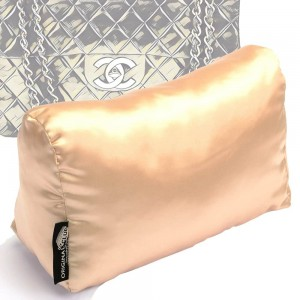 Satin Pillow Luxury Bag Shaper For Classic / 2.55 Flap Closure Shoulder Bag ( Medium, Jumbo, Maxi ) (Champagne) - More colors available