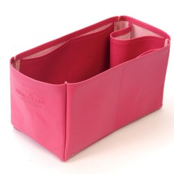 Herbag 31 Vegan Leather Handbag Organizer in Fuchsia Color
