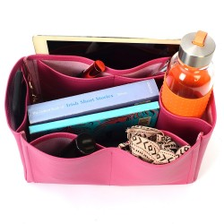 Jypsiere 28 Vegan Leather Handbag Organizer in Fuschia Color