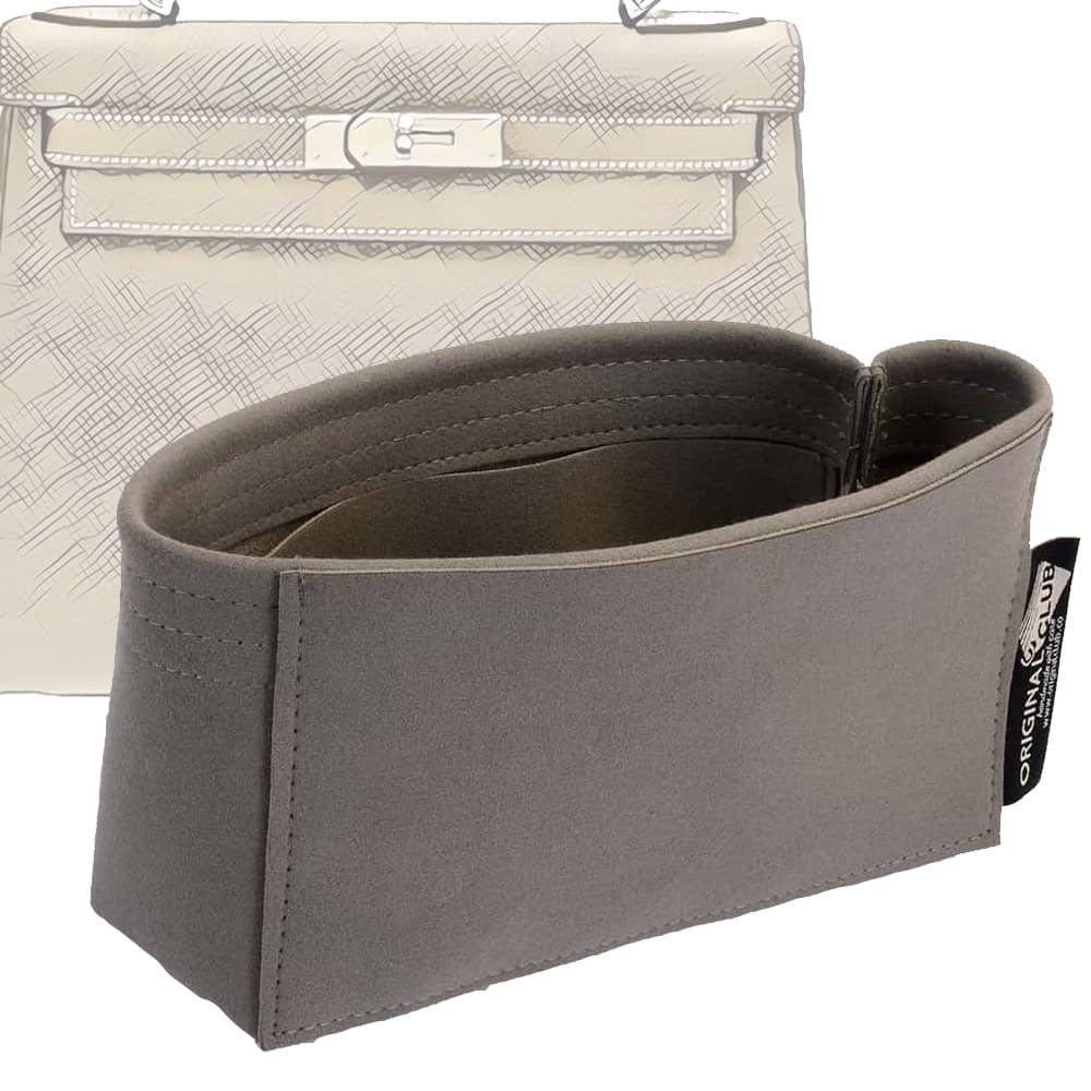 Kelly 25 /28 /32 /35 Suedette Basic Style Leather Handbag Organizer (More Colors Available)