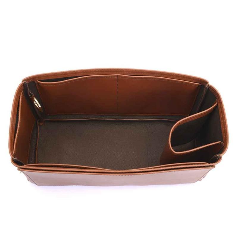 Alexa Regular Deluxe Leather Handbag Organizer In Brown Color