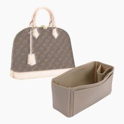 Alma MM Vegan Leather Handbag Organizer in Dark Beige Color