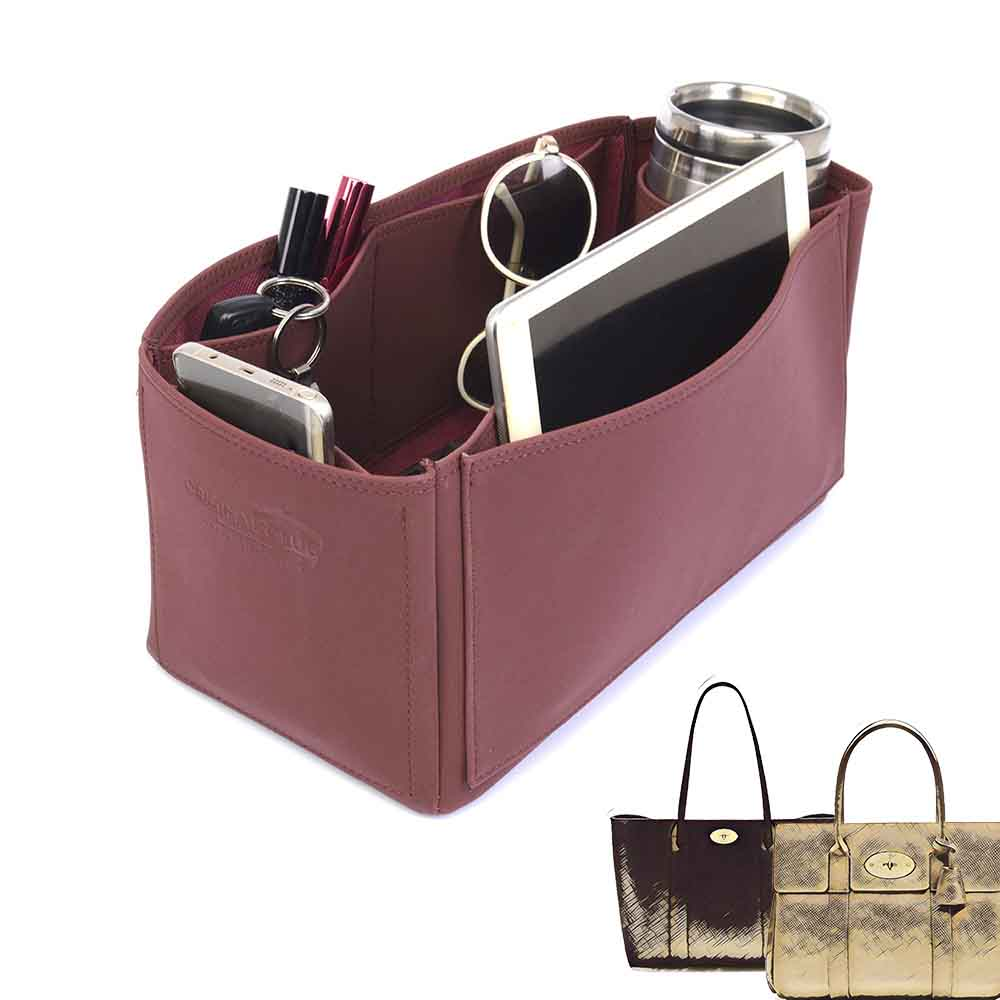 Bayswater Deluxe Leather Bag Organizer in Maroon Color
