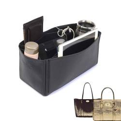 Bayswater Deluxe Leather Bag Organizer in Black Color