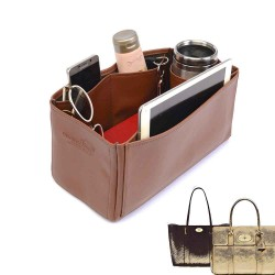 Bayswater Deluxe Leather Bag Organizer in Brown Color