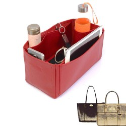 Bayswater Deluxe Leather Bag Organizer in Cherry Red Color