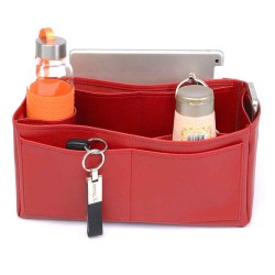 Bayswater Vegan Leather Bag Organizer in Cherry Red Color