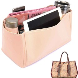 Garden Party 36 Deluxe Leather Handbag Organizer in Blush Pink Color