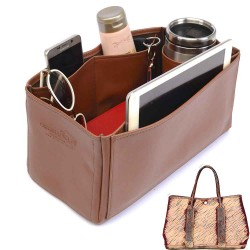 Garden Party 36 Deluxe Leather Handbag Organizer in Brown Color