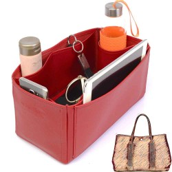 Garden Party 36 Deluxe Leather Handbag Organizer in Cherry Red Color