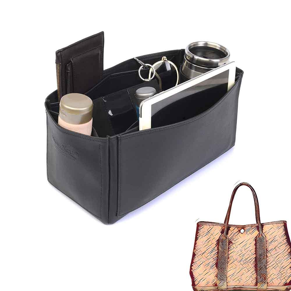 Garden Party 36 Deluxe Leather Handbag Organizer in Black Color