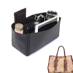 Garden Party 36 Deluxe Leather Handbag Organizer in Black Color