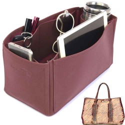 Garden Party 36 Deluxe Leather Handbag Organizer in Maroon Color