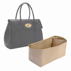 Bayswater Vegan Leather Bag Organizer in Ecru Color